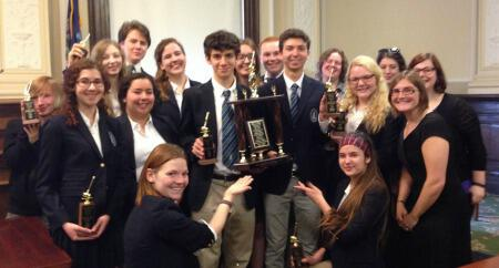 Mock Trial Team Finishes Season as Region III Runners-Up