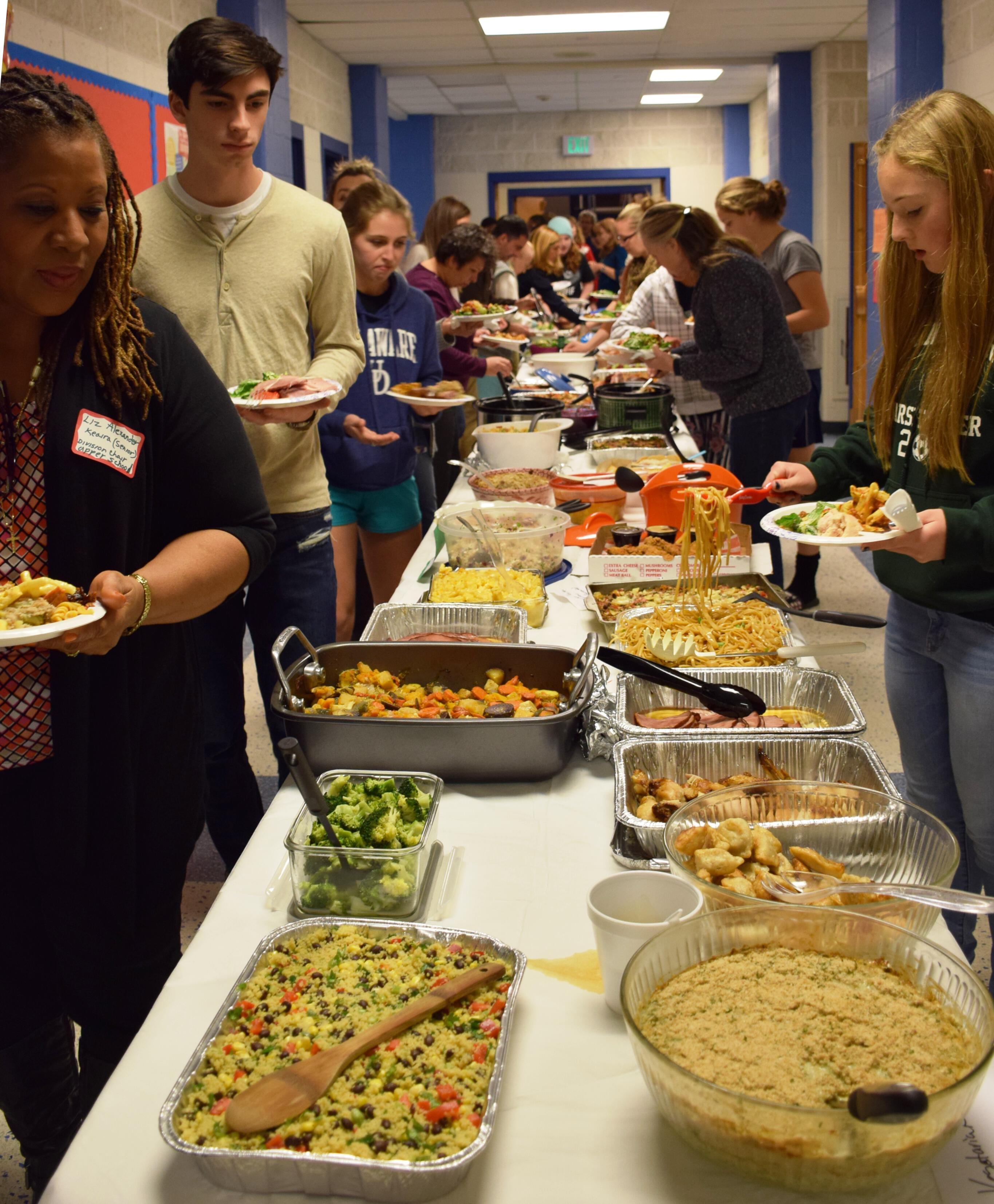 annual thanksgiving potluck dinner doane stuart