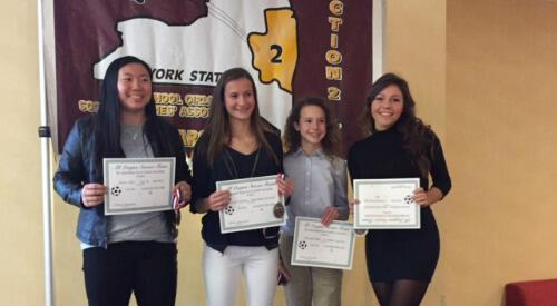 Section 2 Girls Soccer Banquet Award Recipients