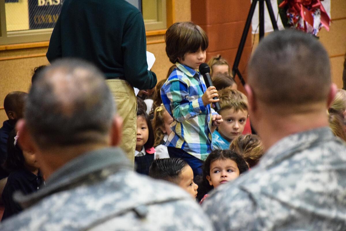 Lower School Morning Meeting & Veterans Day Celebration
