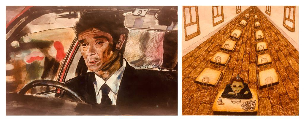 Student Paintings for Exhibition