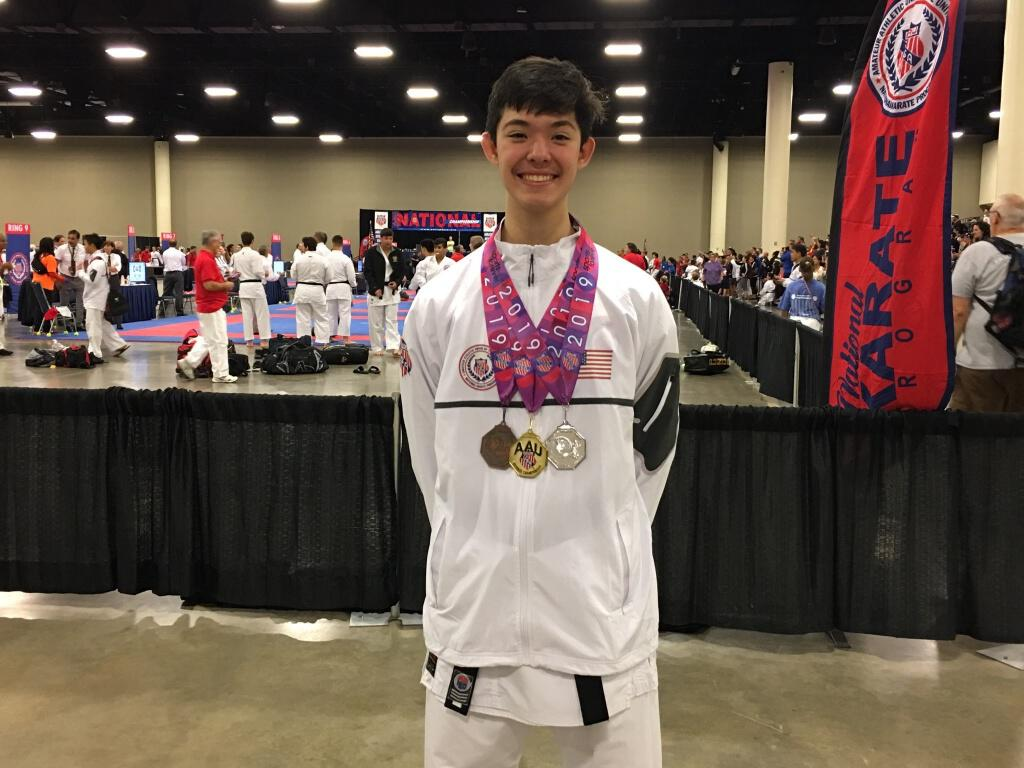 Pierce Leonardi '22 Ranks Second in the World in Karate.