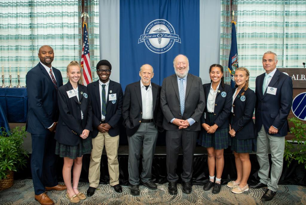 Doane Stuart Students Meet Albany Medical Center Prize winners