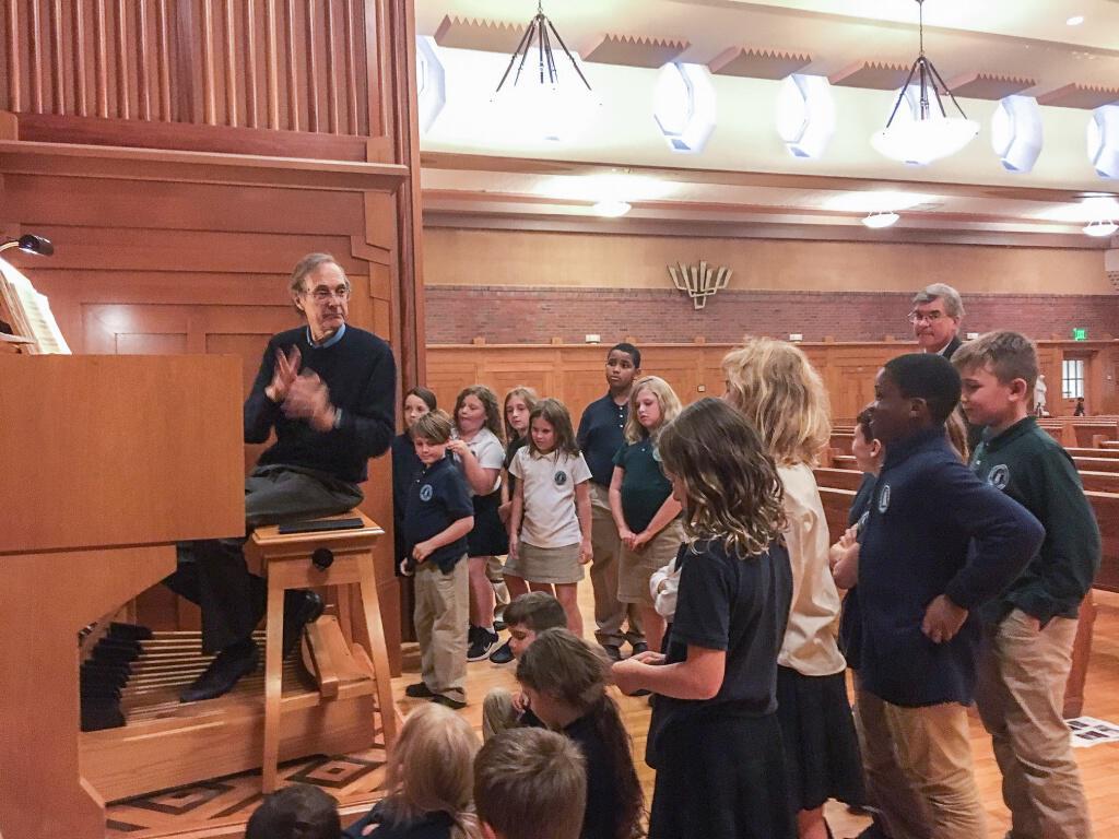 St. Peter's Episcopal Church organist visits Doane Stuart